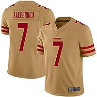Kaepernick # 7 camiseta de fútbol americano, San Francisco 49ers Rugby Jersey transpirable y de secado rápido, algodón suelto y cómodo StyleName XX-Large Color