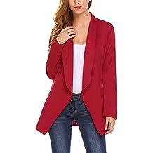 Meaneor Mujeres Blazer Elegante Oficina Traje de Chaqueta Outwear Casual 81a0b8c6bb18