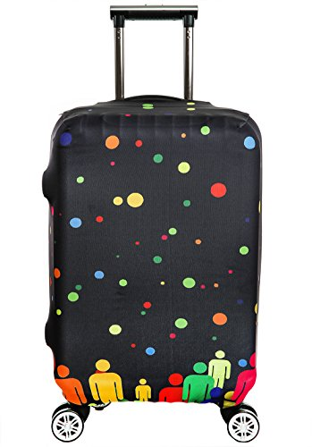 SINOKAL Cover Proteggi Valigia Elasticizzata 18-20 pollici 22-24 pollici 26-28 pollici 30-32 pollici Suitcase Cover Proteggi bagagli (Solo copertura, valigia non inclusa)