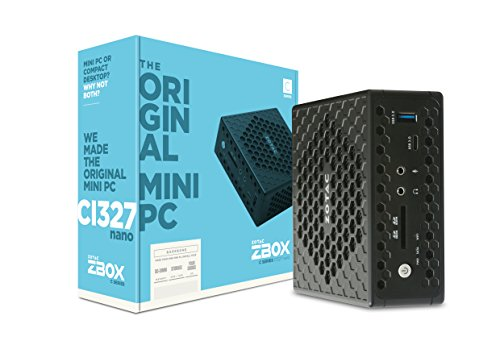 ZOTAC ZBOX CI327 nano mini-PC Barebone (Intel N3450 quad-core, Intel HD Graphics 500, lüfterlos)
