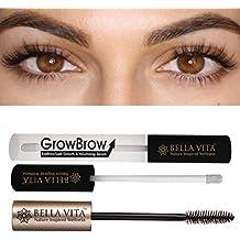 Bella Vita Organic GrowBrow Eye Brows EyeLash Hair Growth and Volume Serum with Castor, Onion Oil and Vitamin E (5 ml)