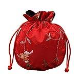 Koala Superstore Sacs à Monnaie Style National Sacs Cadeaux Pochette à Bijoux Cordon 10 pièces, Rouge