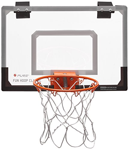 Pure 2Improve Fun Hoop Classic, Indoor-Basketballkorb 46x30cm, 23cm Ø Ring, inkl. 13,5cm Ø Basketball