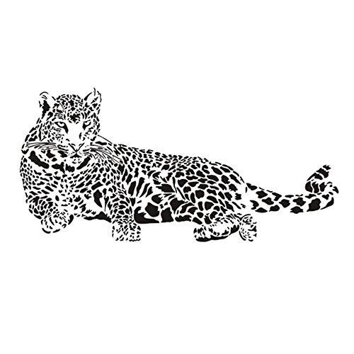 Vektenxi Premium Qualität Cheetah Wandaufkleber Vinyl Wandaufkleber Tier Gepard Leopard Panther abnehmbare Wandtattoo für Kinder Kinderzimmer Wohnzimmer ()