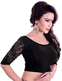 Fressia Saree Blouse Readymade Stretchable Cotton Lycra Free Size stitched Saree Blouses For Women Party Wear