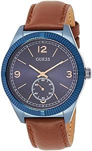 Guess Mens watch Analog Display Quartz Movement Leather W0873G2
