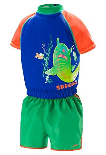 Speedo Kids 'UPF 50+ beginnen zu schwimmen polywog Badeanzug, Mädchen, Uv Polywog, blau/orange