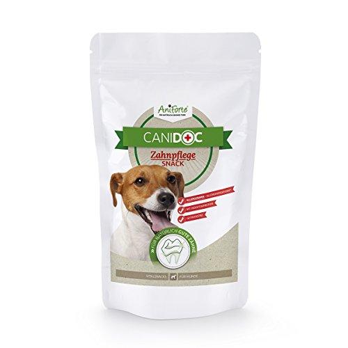 AniForte CaniDoc Zahnpflege Snack 100g für Hunde, Hunde-Leckerli, reinigt und pflegt die Zähne, Hunde-Belohnung, Made in Germany