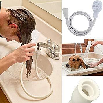 Shine singolo rubinetto doccia tubo lavandino vasca da bagno di nebulizzazione spray Head lavaggio interni PVC