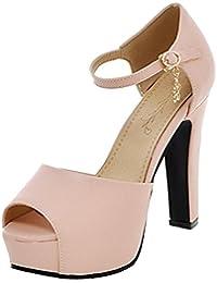 JOJONUNU Mujer Peep Toe Vestir Sandalias  Zapatos de moda en línea Obtenga el mejor descuento de venta caliente-Descuento más grande