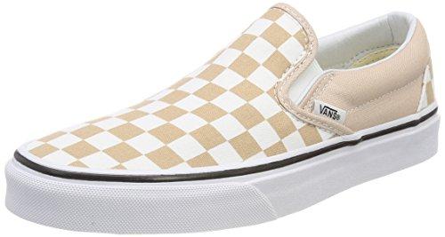 Vans Unisex-Erwachsene Classic Slip-On Sneaker Beige (Checkerboard)