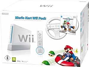 Nintendo wii console mario kart pack bianca bundle - Wii console mario kart bundle ...