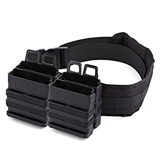 TXXCI 4 Stück Soft Bullet Clip Magazine Halter Quick Pull Box mit Verstellbarem taktischem Gürtel Für Nerf Party -Schwarz