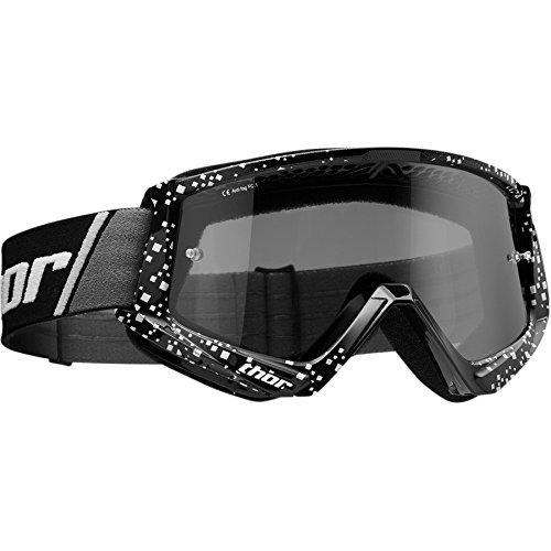 Thor Combat Sand Goggle Crossbrille Schwarz Motocrossbrille Offroad Enduro Quad ATV MX SX MTB Motocross Supermoto Downhill Cross Brille getöntes Glas