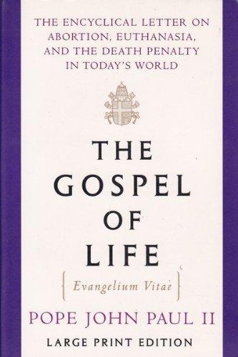The Gospel Of Life Random House Large Print