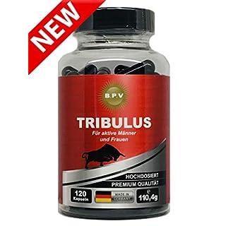 B.P.V - TRIBULUS 120 Kapseln - Hochdosiert 775,0 mg pro Kapsel - Potenzmittel - Testo Booster - Perfekt geeignet für Sportler und Aktive Männer - Für Lust - Liebe - Leidenschaft und mehr