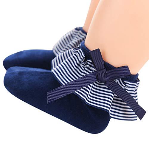 Mitlfuny Unisex Baby Kinder Jungen Zubehör Säuglingspflege,Baby Kinder Mädchen Komfortable Streifen Bow-knot Süße Socken Hausschuhe Söckchen - Baby-schuhe Mädchen Koala Für