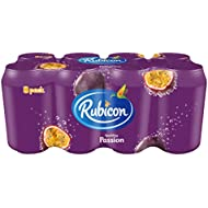 Rubicon Sparkling Passion Fruit Juice Can Drink, 8 x 330ml