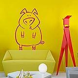 Mignon Cochon Animaux Stickers muraux Vinyle Home Stickers muraux Enfants Maternelle...