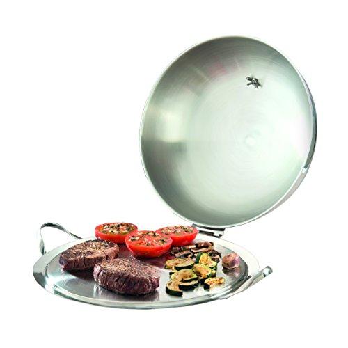 Plancha en Acier Inoxydable avec garhaube de Mastrad Plaque de Paris–Barbecue/teppanyaki/glosche/Cloche