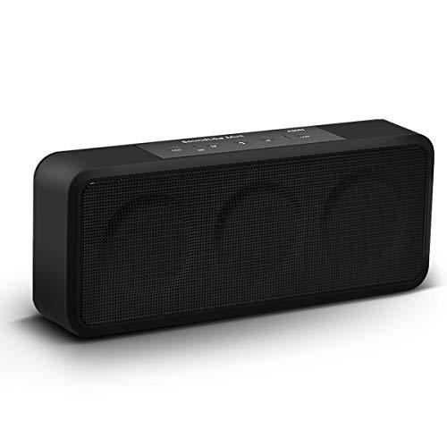Muzili Bluetooth Lautsprecher, Tragbarer Mini Bluetooth Speaker Wireless Musikbox mit eingebautem Mikrofon,10 Stunden Spielzeit, AUX-Kabel/U-Disk/TF-Karte für IOS, Android - Schwarz