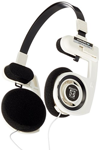 Koss Porta Pro - Cuffie monoauricolare, PC/Gaming, Wired, Bianco/Nero