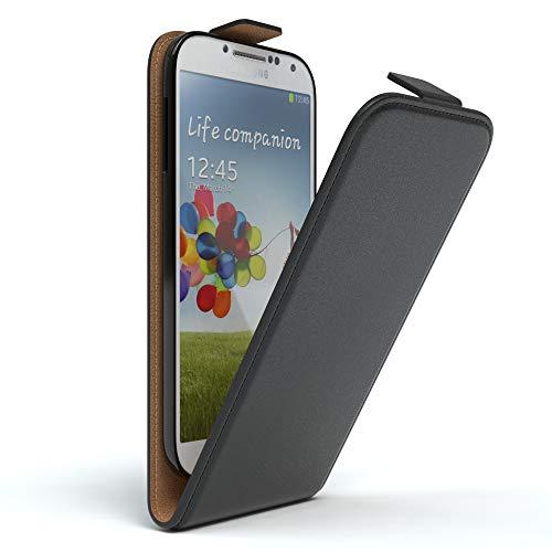 EAZY CASE Hülle für Samsung Galaxy S4 / S4 Neo Hülle Flip Cover zum Aufklappen, Handyhülle aufklappbar, Schutzhülle, Flipcover, Flipcase, Flipstyle Case vertikal klappbar, aus Kunstleder, Schwarz (Handy Flip S4 Cover)