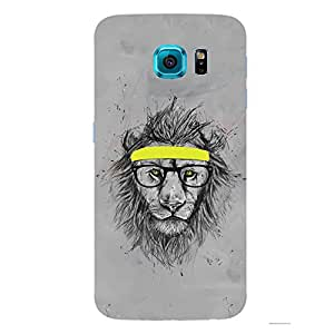 Back cover for Samsung Galaxy S6 Edge Nerdy Lion