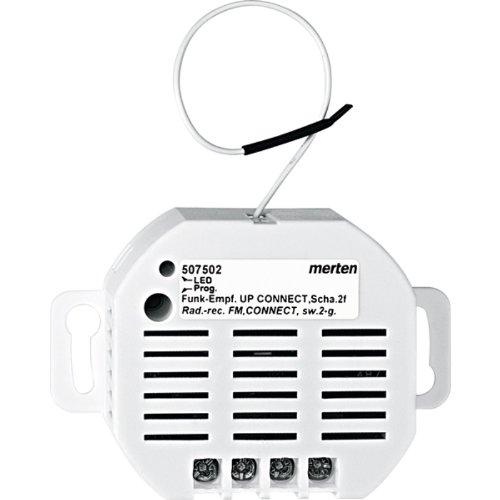 Merten 507502 Funk-Empfänger UP CONNECT, Schalter 2fach - Glühlampen-dimmer Umschalten
