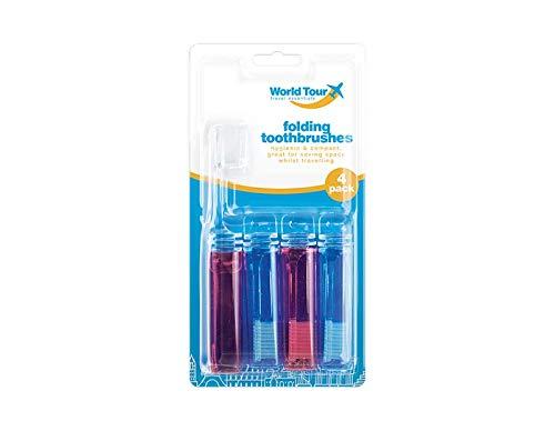 1x 4 Reise Zahnbürste - klappbar - antibakteriell - Folding Toothbrushes - vetrieb durch ABAV Reise-outlet