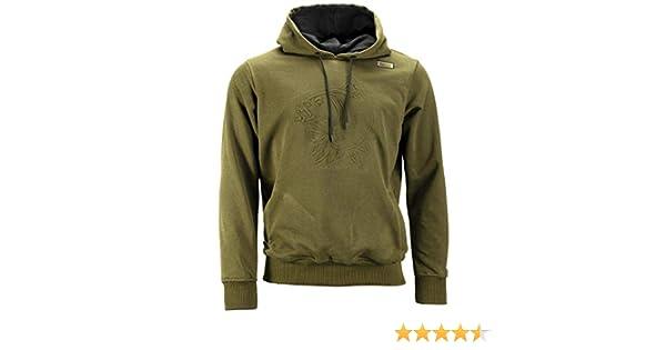 Nash Emboss Hoody NEW Carp Fishing Green Hoodie *All sizes*
