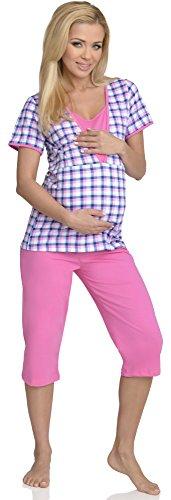Be Mammy Femme Allaitement Ensemble de Pyjama Rita Rose