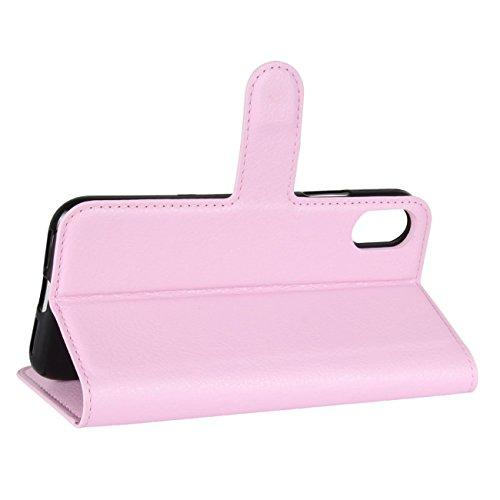 """iPhone 8 Hülle, HualuBro [Standfunktion] [All Around Schutz] Premium PU Leder Wallet Tasche Schutzhülle Case Flip Cover mit Karten Slot für Apple iPhone 8 5.1"""" Smartphone (Schwarz) Pink"""