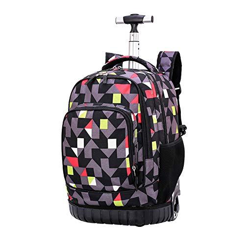 Xingsiyue Kids Trolley Tasche 18 Zoll mit Räder - Kind Schule Wheeled Gepäck Tasche Trip Reißverschluss Rucksack für Jungen Mädchen Kinder Student -