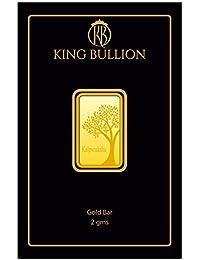 KING BULLION 2 gm, 24KT (999) Yellow Gold Bar