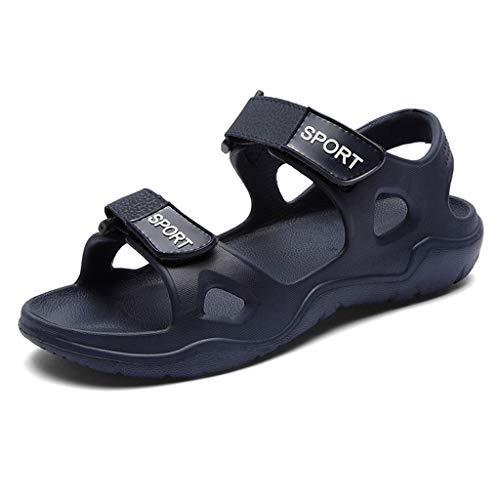 Aoogo Herren Sandalen Strand Hausschuhe solide Haken aushöhlen lässig atmungsaktiv Wohnungen Sandalen Schuhe Lauren Cord Jeans