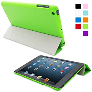 Snugg iPad Mini 1 Ultra Thin Smart Case in Green - Flip Stand Cover with Auto Wake and Sleep for Apple iPad Mini 1