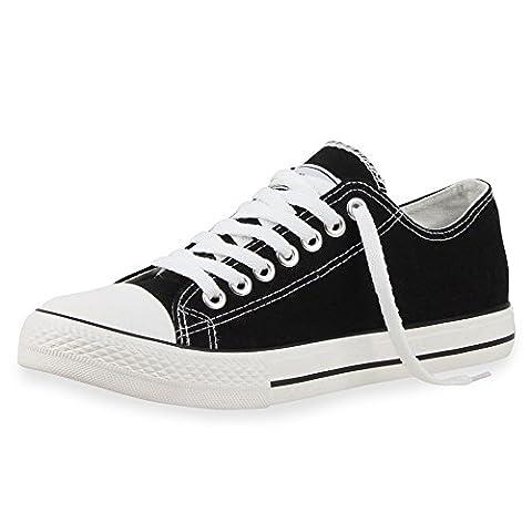 best-boots Damen Turnschuh Sneaker Retwin Slipper Schwarz 1379 Größe 43
