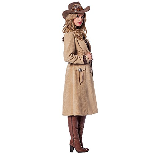NEU Damen-Kostüm Cowgirl Mantel de Luxe, Gr. 52