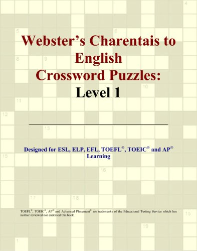 Webster's Charentais to English Crossword Puzzles: Level 1