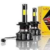 Lampadine h7 led canbus auto moto,con 4cip led Bulb 6000K 8000lm 72W H/L canbus,h7...