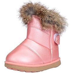 lsv-8bambina scarpe inverno 2016nuovo modo carino scarpe principessa Keep Warm spessa bambino neve stivali (1~ 2anni, rosa)