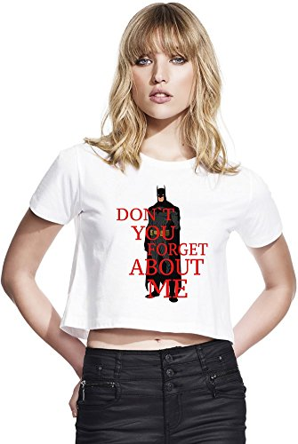 Don't You Forget About Women's Cropped Tee, Large