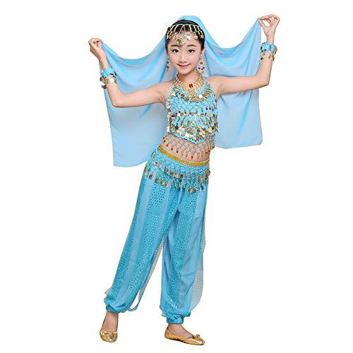 ekleidung Mädchen Röcke Kostüm - Bauchtanz Karnevalsparty Bollywood Indische Tanzkostüm Kinder Agypten Halloween Kleidung ()