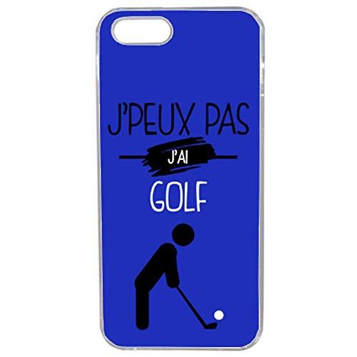 Unbekannt Générique Schutzhülle für iPhone 5S, Aufschrift J'peux pas J'Ai Golf 12, Transparent