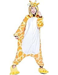 Moollyfox Unisexo Kigurumi Pijama Adulto Disfraz de halloween para cosplay Homewear Jirafa M