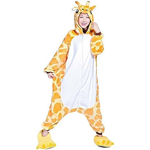 Moollyfox Kigurumi Pijamas Unisexo Adulto Traje Disfraz Adulto Animal Pyjamas Jirafa S
