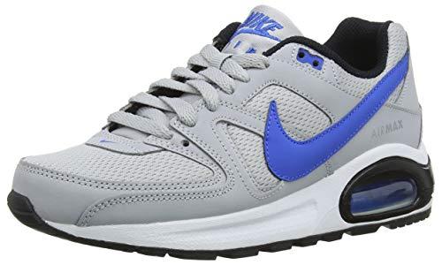 Nike Air MAX Command Flex (GS), Zapatillas de Running para Niños, Gris (Wolf Grey/Signal Blue/Black/WH 007), 37.5 EU
