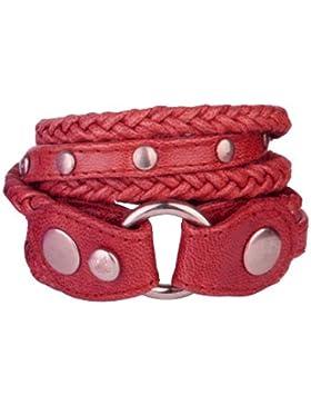 Armband - unisex - Goldmarie Lederarmband strings new, rot, B81-10-18-B-rot