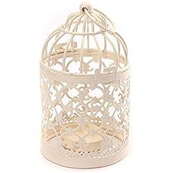 Romántico candelabro de hierro calado 14 x 8cm